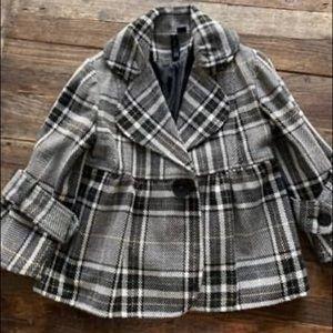 Plaid peplum jacket